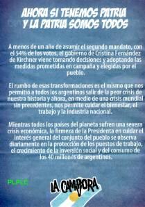 Panfleto de La Cámpora luego del cacerolazo del 13S (1)